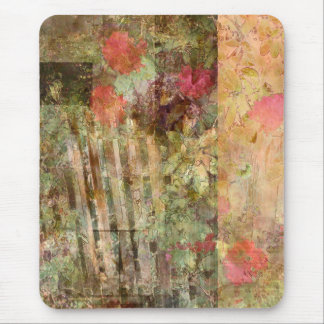 Rhodies und Zaun-Collage Mousepad