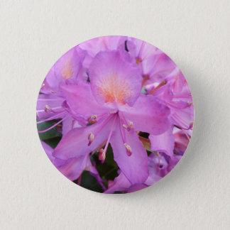 Rhododendron-Blumen-Abzeichen Runder Button 5,7 Cm