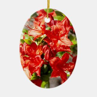 Rhododendron Ovales Keramik Ornament