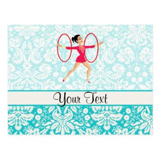Rhythmische Gymnastik-Bänder Postkarte