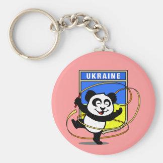 Rhythmische Gymnastik-Panda Ukraine Schlüsselanhänger