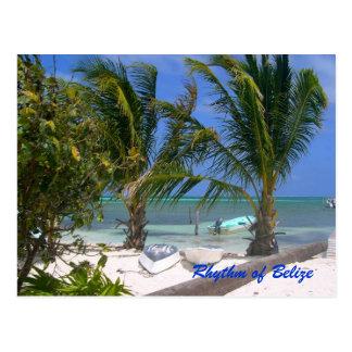 Rhythmus der Belize-Strand-Postkarte Postkarte