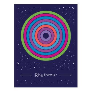 Rhythmus Postkarte