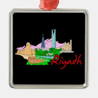 Riad - Saudi-Arabien .png Silbernes Ornament