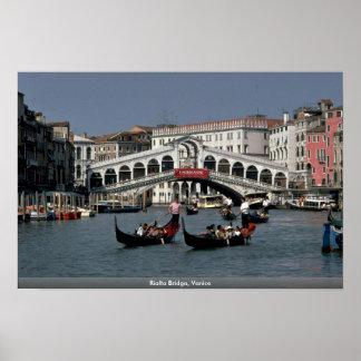 Rialto Brücke Venedig Poster