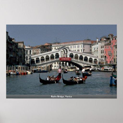 Rialto Brücke, Venedig Poster