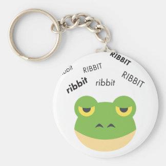 Ribbit Frosch niedliches Emoji Schlüsselanhänger