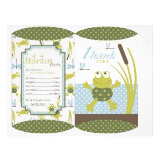 Ribbit Frosch-und Libellen-Kasten-Schablone Flyer