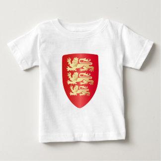 Richard das Löwe-Herz-Schild im Rot+Imitatgold Baby T-shirt
