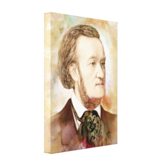 Richard Wagner auf Leinwand - Watercolor-Art