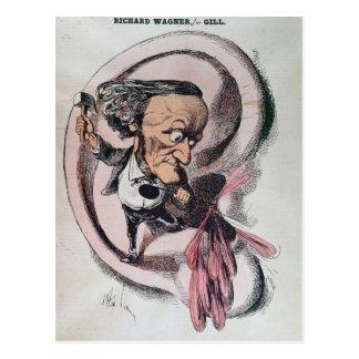 Richard Wagner, der das Trommelfell der Welt Postkarte