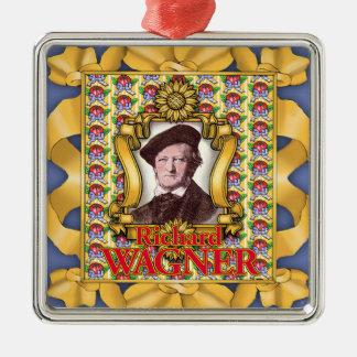 Richard Wagner Quadratisches Silberfarbenes Ornament