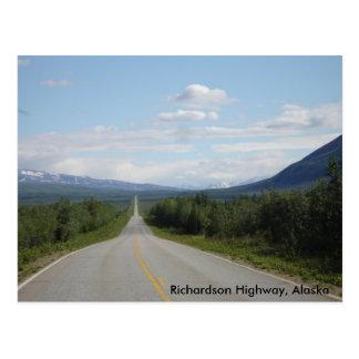 Richardson-Landstraße, Alaska Postkarte