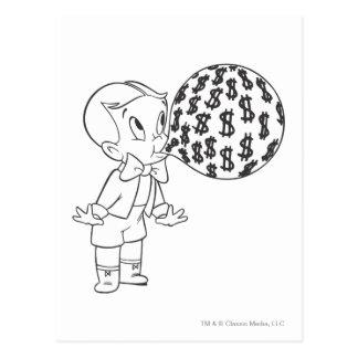 Richie reiche durchbrennenblase - B&W Postkarte