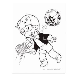 Richie reicher Paddel-Ball - B&W Postkarte