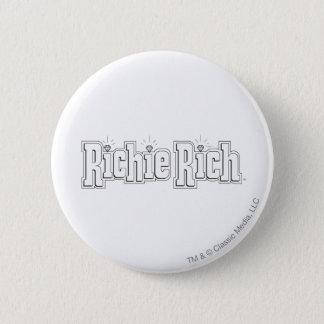 Richie reiches Logo - B&W Runder Button 5,7 Cm