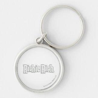 Richie reiches Logo - B&W Schlüsselanhänger