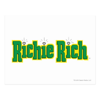 Richie reiches Logo - Farbe Postkarte