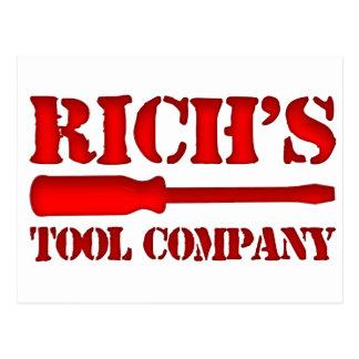 Richs Tool Company Postkarte