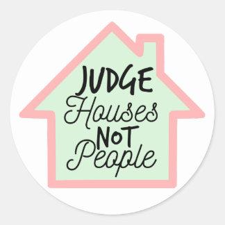 Richter bringt nicht Leute-Aufkleber unter Runder Aufkleber