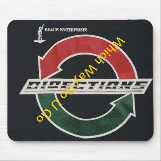 Richtungs-Logo auf Mausunterlage Mousepad