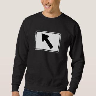 Richtungspfeil-schiefes links, Zeichen, USA Sweatshirt