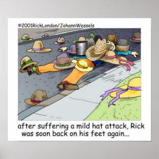 Rick erleidet ein Hut-Angriffs-Cartoon-Plakat Poster
