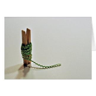 Rick-Gestell und ein Clothespin Grußkarte
