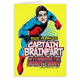 Rick Perry Kapitän Brainfart Card Grußkarten