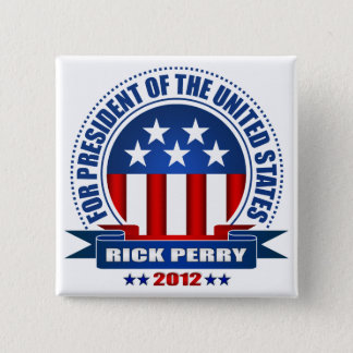 Rick Perry Quadratischer Button 5,1 Cm