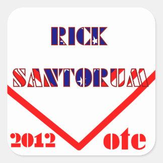 Rick Santorum 2 Quadratischer Aufkleber