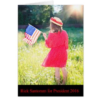 Rick Santorum für Präsidenten 2016 Karte