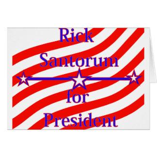 Rick Santorum für Präsidenten Strips With 3 spielt Karte
