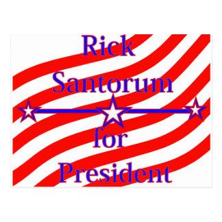 Rick Santorum für Präsidenten Strips With 3 spielt Postkarte