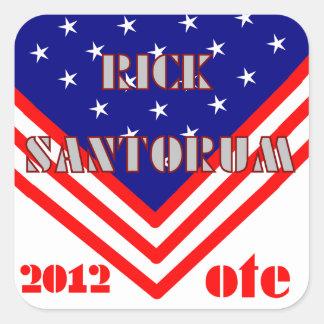 Rick Santorum Quadratischer Aufkleber