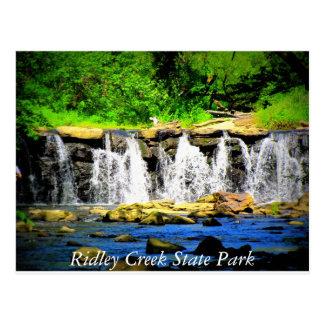 Ridley Nebenfluss-Staats-Park-Postkarte Postkarte