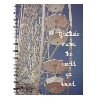 Riesenrad-Dankbarkeits-Zeitschrift Spiral Notizblock