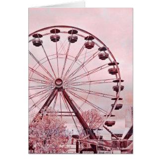 Riesenrad herein rosa Gruß-Geburtstags-Karte Grußkarte