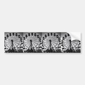 Riesenrad herein Schwarzweiss-Foto-Geschenke Autoaufkleber