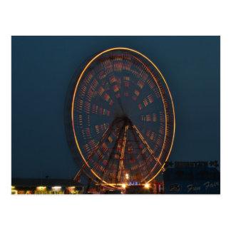Riesenrad nachts postkarte