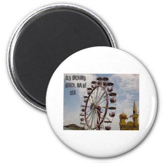 Riesenrad Palast Playland am alten Runder Magnet 5,1 Cm