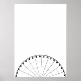 Riesenrad-schwarzes u. weißes unbedeutendes Plakat