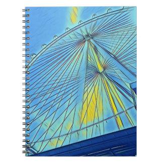 Riesenrad-Spiralen-Zeitschrift oder Notizbuch Spiral Notizblock