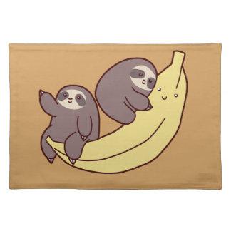 Riesige Bananen-Trägheiten Stofftischset