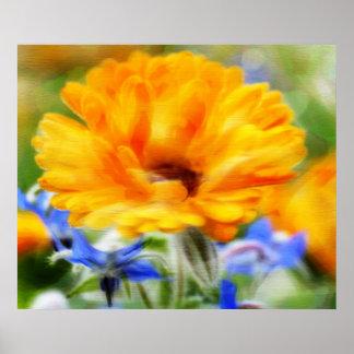 Riesige Blumenmalerei auf Leinwand