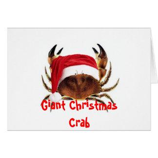 Riesige feindliche Krabben-Weihnachtskarte Karte