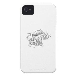 Riesige Kraken-kämpfende Astronauten-Tätowierung iPhone 4 Case-Mate Hüllen