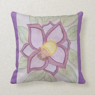 Riesige lila Blüte Kissen