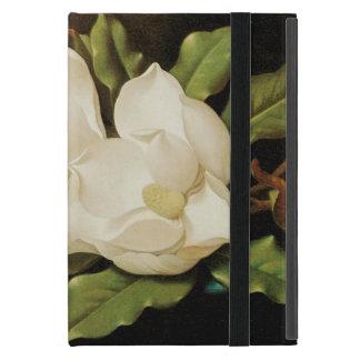 Riesige Magnolien auf einem blauen Samt-Stoff Etui Fürs iPad Mini