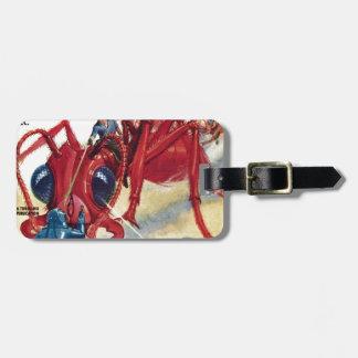 Riesige rote Ameise Gepäckanhänger